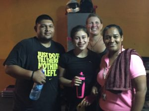 Hillview Train Station, awesome gym with one of the owners (on the far right) and some of the members.