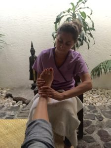 Wonderful foot massage.