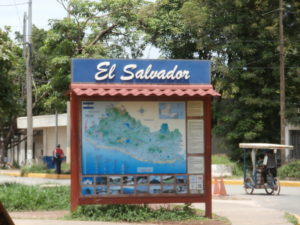 El Salvador border crossing at La Hachadura